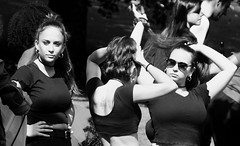 Carnival 2019 90 (byronv2) Tags: peoplewatching candid street performer newtown princesstreet princesstreetgardens carnival edinburghjazzbluesfestival edinburghjazzbluesfestival2019 festival parade blackandwhite blackwhite bw monochrome woman girl dancer