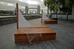 South Bank (Croydon Clicker) Tags: art nautical wooden wood sails nets three wall railing rail towerbridge london nikon sigma