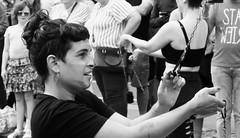 Carnival 2019 79 (byronv2) Tags: peoplewatching candid street performer newtown princesstreet princesstreetgardens carnival edinburghjazzbluesfestival edinburghjazzbluesfestival2019 festival parade blackandwhite blackwhite bw monochrome woman portrait