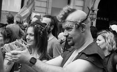 Carnival 2019 76 (byronv2) Tags: peoplewatching candid street performer newtown princesstreet princesstreetgardens carnival edinburghjazzbluesfestival edinburghjazzbluesfestival2019 festival parade blackandwhite blackwhite bw monochrome man portrait