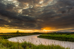 Moody Summer (kamilgalanek) Tags: river clouds sky moody sunset sun summer