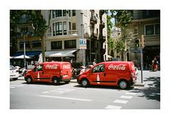 FILM - Coca Cola Coca Cola (fishyfish_arcade) Tags: 35mm analogphotography barcelona canonsureshotz135 filmphotography filmisnotdead istillshootfilm kodak portra400 analogcamera compact film cocacola red