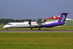 G-JECP 2 Bombardier Dash 8Q-402 FlyBe Airlines MAN 26AUG19 (Ken Fielding) Tags: gjecp bombardier dash8q402 flybeairlines aircraft airplane airliner jetprop turboprop regional aviation