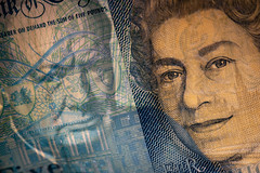 #22 - Two faced money (Richard Forward) Tags: money plastic 5pounds uk queen churchill bankofengland