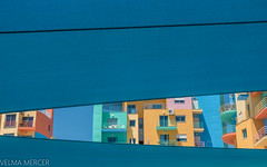 Architecture and colour. (Velmerc) Tags: portugal blue yellow orange summer architecture sky minimalism