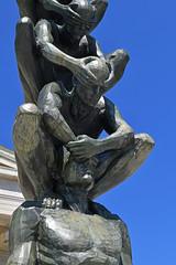 "Detail of ""Karma"" by Do Ho Suh (2010) (dr_marvel) Tags: buffalo ny newyork sculpture statue bronze metal dohosuh artist art sculptor blue sky albrightknox gallery karma suh"