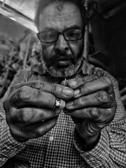 Focusing... (Backpackermajid) Tags: blackwhite portrait smartphone redminote7 mobilephotography morocco tailor street streetphotography blackandwhite people daily casablanca xiaomi