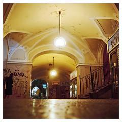 Prague Arcade (Jamie Langford) Tags: prague praha rolleiflex mediumformat 120film portra160