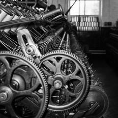 Spinning machine (Douglas Jarvis) Tags: bradford wool machine mill spii spotmatic pentax colourplus kodak film