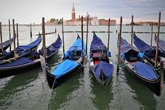 Venezian Gondolas (sisley72) Tags: italy venice church island gondola isola chiesa basilica italia venezia sangiorgiomaggiore