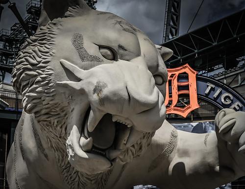 Tiger Sculpture - Detroit Tigers at Comerica Park Detroit MI