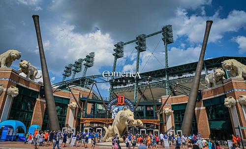 Entrance to Detroit Tigers at Comerica Park Detroit MI