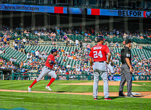 Victor Robles running to first base - Washington Nationals vs Detroit Tigers at Comerica Park Detroit MI