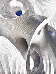 Minima Maxima (RobertLx) Tags: architecture art sculpture modern contemporary city expo travel vertical stripes grid circles asia astana nursultan kazakhstan expo2017 aluminum curve layer marcfornes minimamaxima shape