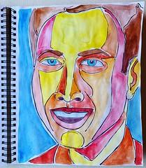 Christian Montone - Sketchbook (2019) (Christian Montone) Tags: montone christianmontone ink watercolor portrait mixedmedia men faces face sketch sketchbook art