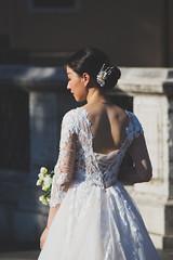 Day 162 of 365 - Waiting (gcarmilla) Tags: waiting bride wedding sposa matrimonio nozze marriage dress vestito schiena back woman donna