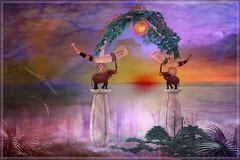Realms Of The Rising Sun (Bambi Chicque of BamPu Legacies) Tags: ©bampulegacies bambichicque ©tanyaelise'howardphotographygraphics medievalfantasyhuntxix creatorsoffantasy secondlife blogger 3ddesigner graphicsartist photographer visualarts finearts virtualphotography fantasyart digitalphotography digitalarts creativedigitalart enchantment extraordinaire elephant risingsun realmsoftherisingsun asianchinesejapanese japanesearch candle hangingivy hostaflowers ocean medievalfantasy roleplay