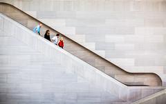 The Americans (Thomas Hawk) Tags: america dc districtofcolumbia nationalgalleryofart usa unitedstates unitedstatesofamerica washingtondc architecture escalator washington fav10 fav25 fav50 fav100