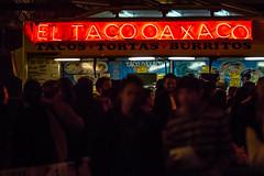 El Taco Oaxaco (Thomas Hawk) Tags: bayarea california eastbay eltacooaxaco firstfriday firstfriday03012013 oakland tacotruck usa unitedstates unitedstatesofamerica westcoast foodtruck neon neonsign