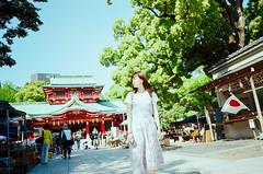 富岡八幡宮 (Mr.Sai) Tags: ricohgr128mmf28 kodakproimage100expiredfilm japan filmisnotdead analogphotography taiwan girl rena travel tokyo