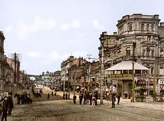 Krestchatik Street in Kiev, Ukraine ( 1890-1900 )
