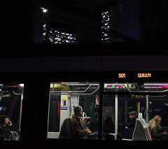 Toronto Queen (kirstiecat) Tags: night dark photographyafterdark canon people strangers bus ttc mood queen queenstreet canada toronto atmopshere