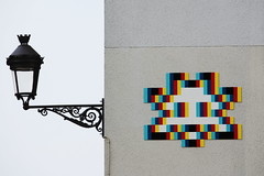 Invader - Space Invaders (Sandrine Ducros) Tags: invader spaceinvaders streetart vincennes city ville urban mosaïc mosaïque mur wall