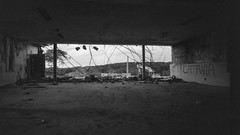 July 2019 (robbiemaynardcreates) Tags: urban white black abandoned film hospital photography state delta exploration 3200 ilford westborough urbex old home contrast vintage lens insane lomography shoot angle cosina low voigtlander bessa wide asylum developed ultra f4 21mm ddx ilfotec r4a