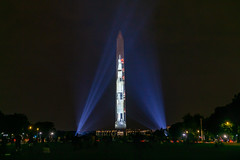 Apollo 11 Projection on the Washington Monument (jtgfoto) Tags: washingtondc sonyalpha sonyimages washington apollo11 rocket washingtonmonument spacecraft airspacemuseum nationalmall monument cityscape nightscape lights projection