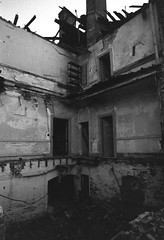 July 2019 (robbiemaynardcreates) Tags: westborough state hospital abandoned urbex urban exploration black white film photography ilford delta 3200 ilfotec ddx home developed insane asylum bessa r4a voigtlander 21mm f4 ultra wide angle lens cosina low contrast lomography old vintage shoot