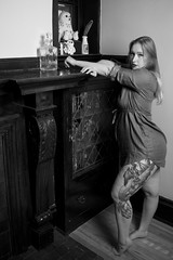 Sierra Pine (Miguelski Photography) Tags: feminine legs tattoo ink monochrome bw blackandwhite beauty woman