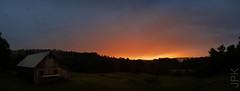 Sunset 7.17.19 (koperajoe) Tags: summer barn sunset mist panorama fog farmstead evening newengland westernmassachusetts