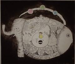rounding (nacocoan55) Tags: illustration art artist etching print prints girl intaglio ink