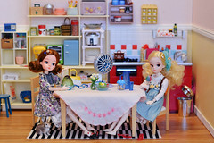 Chatting and Having Shaved Ice (Moonrabbit_ly) Tags: rement miniature dollhouse diorama licca reprolicca shavedice