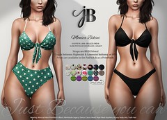 NEW! Monica Bikini - at the Mainstore! (Just BECAUSE_SL) Tags: bikini swimsuit swimwear tie knot butt sexy cleavage water womens fashion mesh original secondlife sl just because jb prints floral neon stripes high waist highwaist low belly straps elastic pool beach summer