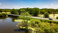 2019-194/365 Over and Under (Sharky.pics) Tags: usa drone summer ixonia river water wisconsin bridge july highway unitedstates djimavicpro rockriver 2019 unitedstatesofamerica