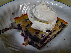 Dessert. (dccradio) Tags: lumberton nc northcarolina robesoncounty july summer summertime wednesday wednesdayevening goodevening canon powershot elph 520hs indoor indoors inside dessert food sweet treat whippedcream whippedtopping blueberrybuckle cake blueberry bowl corelle