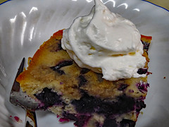 Whipped Cream On Blueberry Buckle. (dccradio) Tags: lumberton nc northcarolina robesoncounty july summer summertime wednesday wednesdayevening goodevening canon powershot elph 520hs indoor indoors inside dessert food sweet treat whippedcream whippedtopping blueberrybuckle cake blueberry bowl corelle