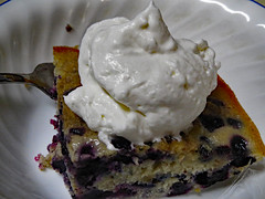 Blueberry Dessert. (dccradio) Tags: lumberton nc northcarolina robesoncounty july summer summertime wednesday wednesdayevening goodevening canon powershot elph 520hs indoor indoors inside dessert food sweet treat whippedcream whippedtopping blueberrybuckle cake blueberry bowl corelle