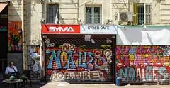 - (txmx 2) Tags: marseille street people cafe shop graffiti noailles