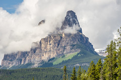 Castle Mountain (agasfer) Tags: 2019 canada alberta hiking johnston canyon pentax k3 smcpentaxda145855300mmed sky clouds