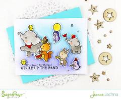 Strike Up The Band (akeptlife) Tags: stamping stamp sugarpeadesigns sugarpea strikeuptheband marchingband elephant parade craftdie card cardmaking papercrafting cardfrontelementbuilderii birthday