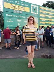 Sue At The David Byrne Concert (Joe Shlabotnik) Tags: sign september2018 galaxys9 cameraphone 2018 justsue sue concert foresthillsstadium