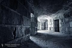 Walls of Fort Popham (tfavretto) Tags: abandoned atlanticocean bricks corridor dank dirty historic maine masonry phippsburg shadows stone wall walls wet fortpopham