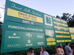 David Byrne and Tune-Yards at Forest Hills Stadium (Joe Shlabotnik) Tags: sign davidbyrne september2018 galaxys9 2018 cameraphone foresthillsstadium concert