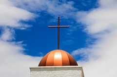 cross (Buck--Fever) Tags: arizona arizonaskies arizonawonders cross sky bluesky church catholicchurch clouds claypool miamiarizona miamiclaypoolarizona canon60d tamron18400lens
