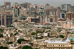 Baku Cityscape Close-up (Packing-Light) Tags: 35mm azerbaijan baku caucasus eurasia nikonf6 analog emulsion film kodak proimage100 city people street