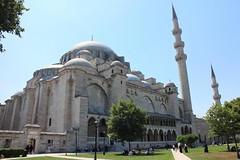 Side View of Imposing Suleymaniye Mosque, Old City, Istanbul, Turkey (Bencito the Traveller) Tags: turkey istanbul oldcity suleymaniyemosque ottomanarchitecture