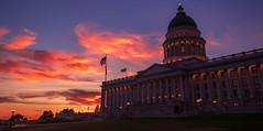 Utah Capitol at sunset (carter_williams) Tags: slc utah sunset colors buildings city summer sky