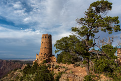 Grand Canyon - Desert View Watchtower 1 (John Nefastis) Tags: arizona usa southwest desert landscape red green grandcanyon grand canyon rock view nationalpark national park
